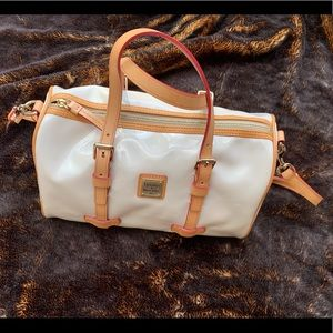Dooney and Bourke white patent leather satchel